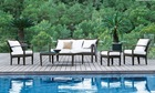 Popular 100% Handmade Aluminum Rustproof Frame All Weather rattan used patio furniture