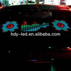 blue 45x31cm sound activated equalizer accesorios+para+el+chevrolet+captiva