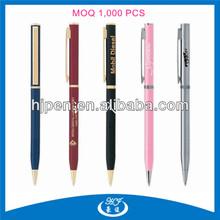 Very Cheap Slim Clip Metal Ballpoint Pen,Gold Plated Pen