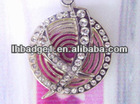 diamond wine neck labels,metal wine bottle hang tag with diamonds,custom wine bottle necklace