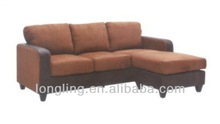 LK-M012 fabric sectional sofa de cuero