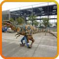 realista traje de dinosaurio velociraptor para jugar los niños