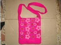 Flower Design Felt Bag