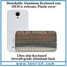LBK308 New Sliding Bluetooth Keyboard Case For Samsung Galaxy S4 I9500 Bluetooth Detachable Keyboard Case For S4
