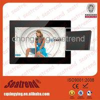 digital photo frame support photo/music/video, CE&ROHS approved high Resolution 1080p led light digital photo frame slim 8