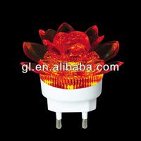 220v decor color led plastic flower light