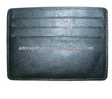 100% genuine leather card holder / promotional gift single card case / simple design business cardholder