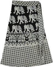 Wrap Skirt Spring Summer Elephant Printed Cotton Sarang Skirts