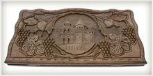 Hand carved Backgammon set,natural wood,hand-made