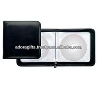 ADACD - 0022 special unique design dvd cases / leather cd disc holder / cool cd holder in black color