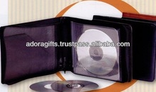 ADACD - 0028 cheap mini cd dvd case / professional dvd case in factory price / nice looking soft leather cd holder case