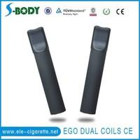 S-body original e-cig ego cartomizer and atomizer ohm meter ego mega dual coils cartomizer