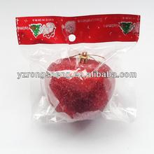 2014 red plastic christmas apple decoration