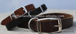 2013-2014 Factory wholesale New Cowhide Basic Plain Leather Dog collars
