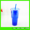 Hot selling!18OZ insulated plastic tumbler plastic cup with lid and straw