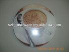 Coffe art oval tempered glass cutting board