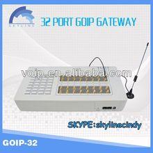 32 ports GOIP voip gateway multi sim communication equipment