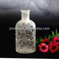 100ml frosted flower vine pattern reed diffuser bottle