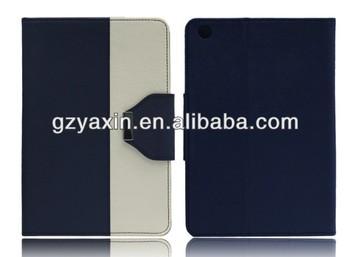 New product double color triangle fold leather case for ipad mini