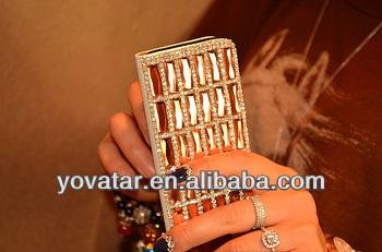 crystal diamond handmake pu leather case for iphone 5 /5s