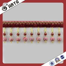 Fashion garment,curtain,sofa,and valance decoration ,curtain tassel fringe trimming lace flequillo