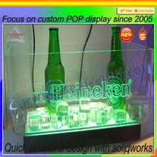 clear acrylic liquor bottle holder /display for bar