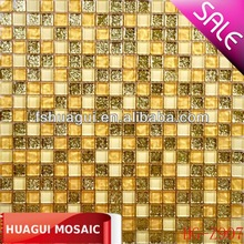 gold glass mosaic chip HG-Z907