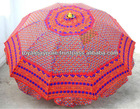 Garden Patio Sun Umbrella Parasol Boho Bohemian Parasol Traditional Indian Embroidered parasol umbrella