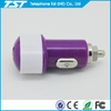 1A Single USB Portable Car Battery Charger for Cell Phone with Various Colors