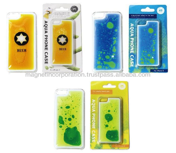 [for iPhone5 Accessory]Plastic Liquid Oil Mobile Phone Case for iPhone 5, 5s, 5c (Beer / Liquid Blue / Liquid Yellow)