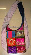 tradicional indiana sari vintage patchwork multi cor ombro bolsas étnicas bolsas boho