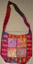 Étnico Hippe Hobo tela do Vintage saco de retalhos de ombro indiano Hobo bolsas de ombro