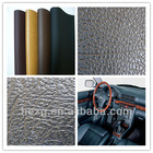 Black PU/PVC synthetic leather for car/bus/trian seat, flooring mat