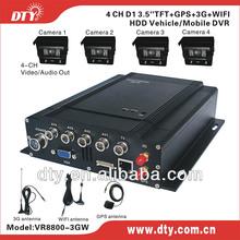 Cheap 4ch full d1 h 264 mini mobil cctv dvr with 3g gps wifi optional , vr8800 series