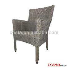 grey rattan dining chair