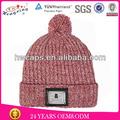 boş düz tasarım oem küçük sipariş fabrika ucuz örme çizgili kış bere şapka ve bereler