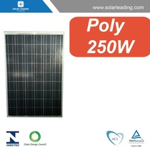 Solar PV modules 30V 250wp, with high efficiency polycrystalline pv cells