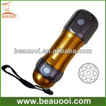 Multi-purpose LED night lamp aluminum 9led flashlight with magnets