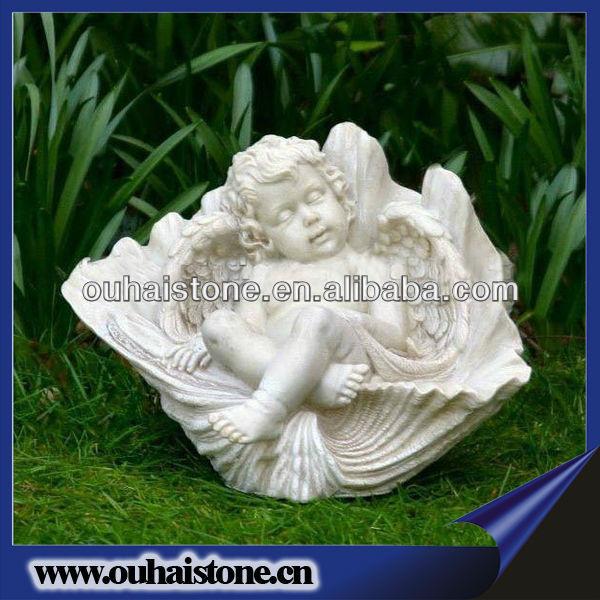 Unique Carved Sleeping Nude Baby Boy Angel