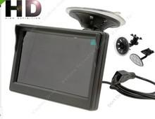 "5"" High Resolution HD 800*480 (no 320*240) Car Monitor 2ch Video / 2 Holders"