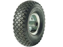 10 inch pneumatic rubber wheel/ 3.00-4 metal rim wheel