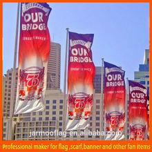 pole hanging street advertising flag