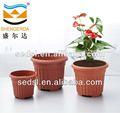 Hot vender barato rodada barro vaso de flores preço