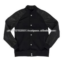 Black body wool varsity jackets/Baseball jacket / Sailer jacket