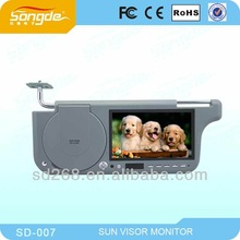 Car sunvisor dvd player with 7inch TFT LCD Monitor