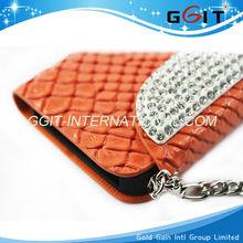For Luxury Diamond Flip Wallet Phone Bag Case for Samsung s4