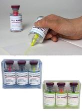 [Japan Design]Pill Bottle Shape Highlighter Set (Blue Label / Green Label)