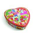 venta al por mayor en forma de corazón torta de la boda caja de envase de la lata