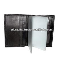 leather pocket credit card holder/ pu leather business card holder/ business card case holder with plastic sleeves