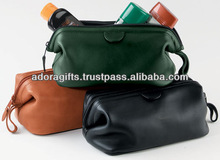 ADACB - 0076 cosmetic makeup pouches bags for women / cheap makeup bags for promotion / genuine leather bags for makeup
